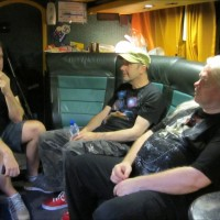 On the Bus, just before the gig